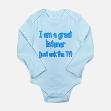 Great TV Listener Long Sleeve Infant Bodysuit