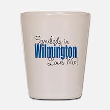 Loves Me in Wilmington Shot Glass