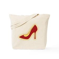 Retro Red High Heel Shoe Tote Bag
