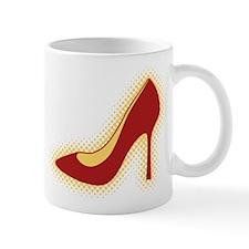 Retro Red High Heel Shoe Mug