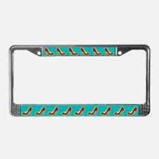 Retro Red High Heel Shoe License Plate Frame
