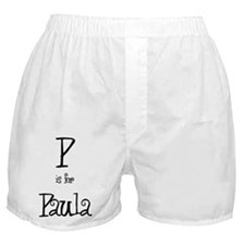 P Is For Paula Boxer Shorts