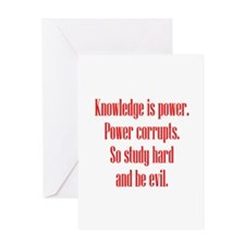 Knowledge and Evil Greeting Card