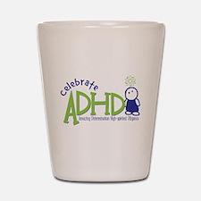 Celebrate ADHD Shot Glass