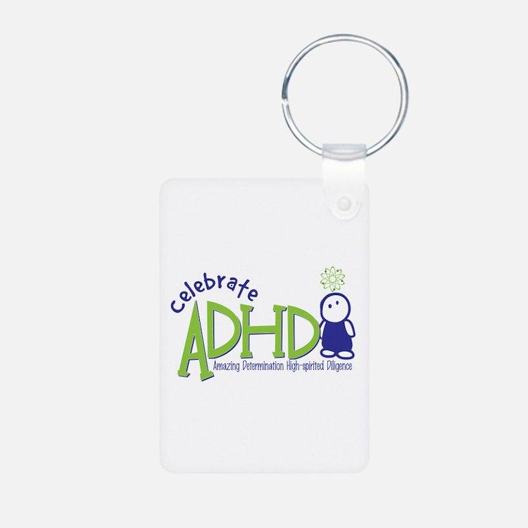 Celebrate ADHD Aluminum Photo Keychain