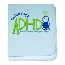 Celebrate ADHD baby blanket