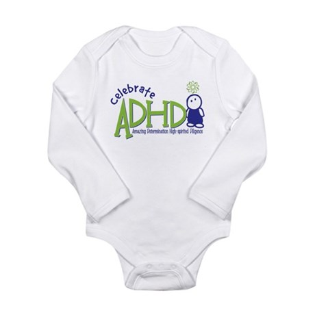 Celebrate ADHD Long Sleeve Infant Bodysuit