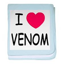 I heart venom baby blanket