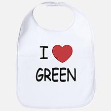 I heart green Bib
