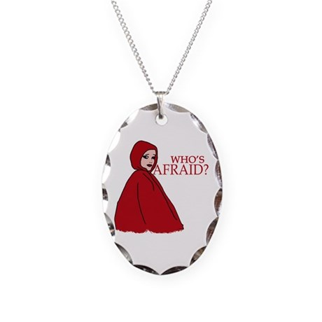RED RIDING HOOD Who's Afraid? Necklace Oval Charm