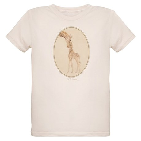 mom & baby giraffe Organic Kids T-Shirt