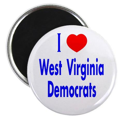 I Love West Virginia Democrat Magnet