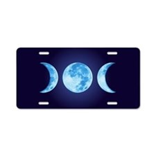 Three Phase Moon Aluminum License Plate