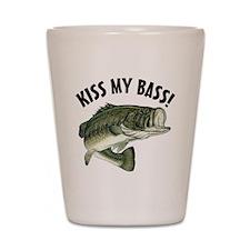 Kiss My Bass Shot Glass