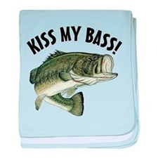 Kiss My Bass baby blanket