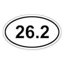 26.2 Marathon Sticker (Oval)