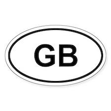 GB Great Britain Sticker (Oval)