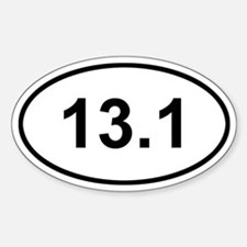 13.1 Half Marathon Sticker (Oval)