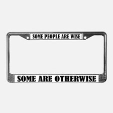 Funny Wisdom License Frame