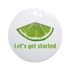 Let's get started Ornament (Round)