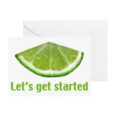 Let's get started Greeting Card