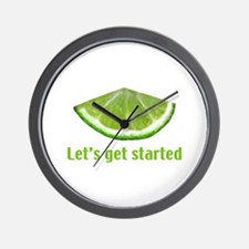 Let's get started Wall Clock