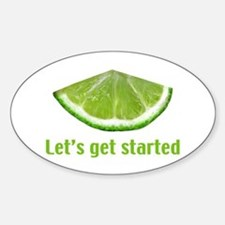 Let's get started Sticker (Oval)