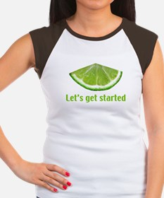 Let's get started Women's Cap Sleeve T-Shirt