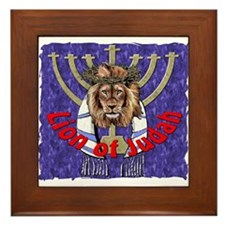 Lion of Judah 7 Framed Tile