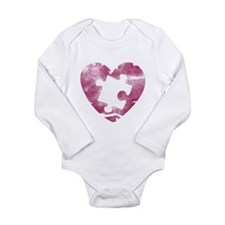 PIECE OF MY HEART Long Sleeve Infant Bodysuit