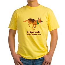 Tripawds Have More Fun Yellow T-Shirt