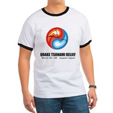 Quake Tsunami Relief Yin Yang Support Japan T
