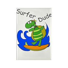 Surfer Dude Rectangle Magnet