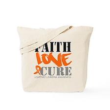 Faith Love Cure Leukemia Tote Bag