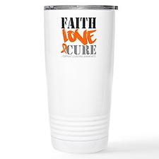 Faith Love Cure Leukemia Travel Mug