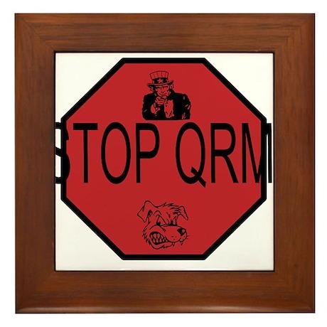 Stop QRM Framed Tile by 73heaven