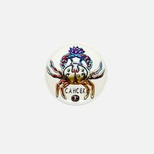 Cancer Crab Zodiac Art Mini Button
