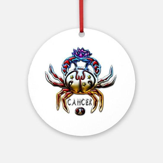Cancer Crab Zodiac Art Ornament (Round)
