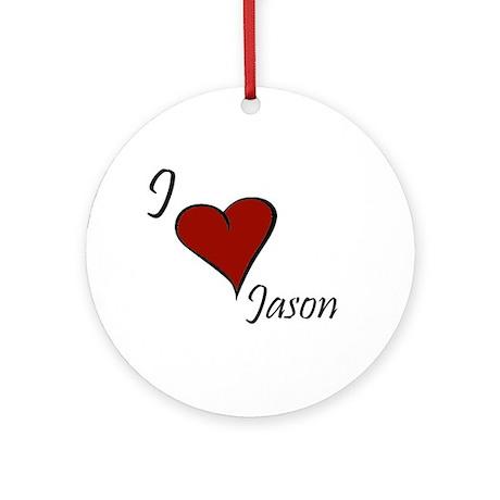 I love Jason Ornament (Round)