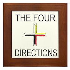 """The Four Directions"" Framed Tile"