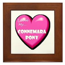 I Love My Connemara Pony Framed Tile