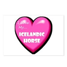 I Love My Icelandic Horse Postcards (Package of 8)