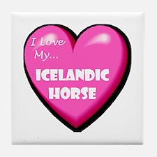 I Love My Icelandic Horse Tile Coaster