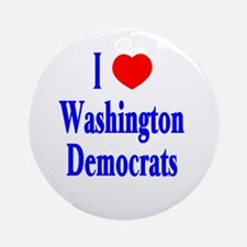 I Love Washington Democrats Ornament (Round)