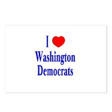 I Love Washington Democrats Postcards (Package of