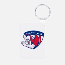 American rugby player Aluminum Photo Keychain