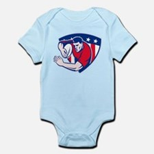 American rugby player Infant Bodysuit