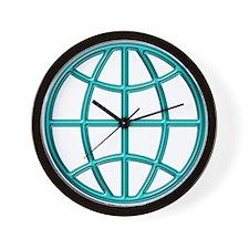 """Aqua Globe"" Wall Clock"