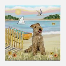 Rowboat & Lakeland T. Tile Coaster