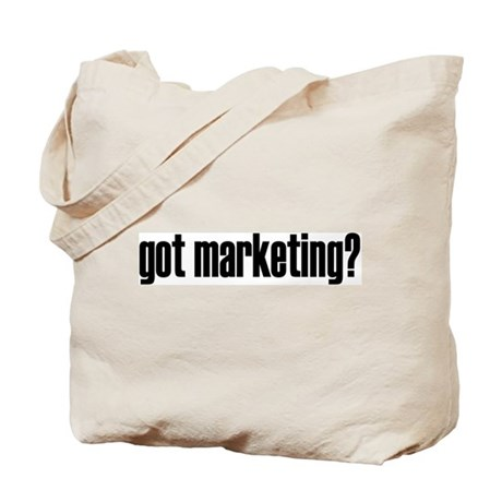 got marketing? (black letters Tote Bag